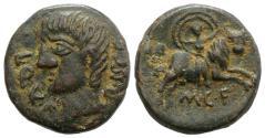Ancient Coins - Spain, Castulo, early 1st century BC. Æ As. R/ EUROPA
