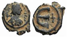 Ancient Coins - Justinian I (527-565). Æ 5 Nummi. Constantinople, 543-565