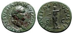 Ancient Coins - Vespasian (69-79). Æ As - Rome - R/ Aequitas