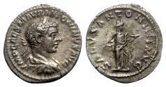 Ancient Coins - Elagabalus (218-222). AR Denarius - Rome - R/ Salus