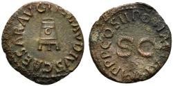 Ancient Coins - Claudius (41-54). Æ Quadrans. Rome, AD 41. Modius. R/ Legend around large S • C