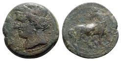 Ancient Coins - Carthage. Second Punic War, c. 215-201 BC. Æ Shekel