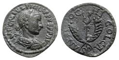 Ancient Coins - Philip II (247-249). Pisidia, Antioch. Æ - R/ Winged caduceus with cornucopia