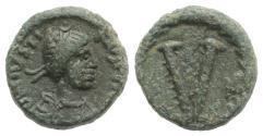 Ancient Coins - Justinian I (527-565). Æ 5 Nummi