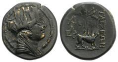 Ancient Coins - Cilicia, Tarsos, c. 164-27 BC. Æ 22mm.  R/ Sandan advancing with goat