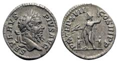 Ancient Coins - Septimius Severus (193-211). AR Denarius - Rome - R/ Jupiter