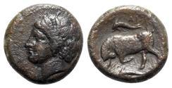 Ancient Coins - Sicily, Syracuse. Agathokles (317-289 BC). Æ Hemilitron