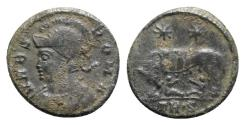 Ancient Coins - Commemorative Series, 330-354. Æ Follis - Treveri - R/ She-wolf