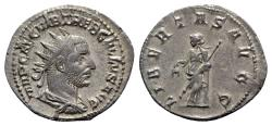 Ancient Coins - Trebonianus Gallus (251-253). AR Antoninianus - Rome - R/ Libertas