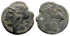 Ancient Coins - Carthage, 300-264 BC. Æ Dishekel - RARE