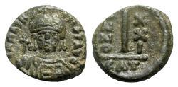Ancient Coins - Maurice Tiberius (582-602). Æ 10 Nummi - Catania, year 21