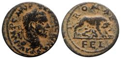 Ancient Coins - Macrinus (217-218). Seleucis and Pieria, Antioch. Æ 28mm.  R/ She-wolf and twins, Romulus and Remus.