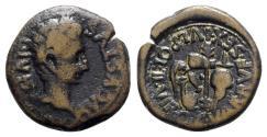 Ancient Coins - Augustus (27 BC-AD 14). Spain, Carthago Nova. Æ Semis