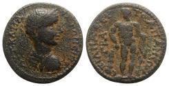 Ancient Coins - Caracalla (198-217). Phrygia, Apamea. Æ - R/ Herakles