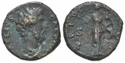 Ancient Coins - Aelius (Caesar, 136-138). Æ As. Rome, AD 137.  R/ Fortuna-Spes standing