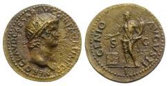 Ancient Coins - Nero (54-68). Æ As. Rome, AD 64.  R/ Genius