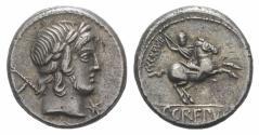 Ancient Coins - ROME REPUBLIC  Pub. Crepusius. 82 BC. AR Denarius