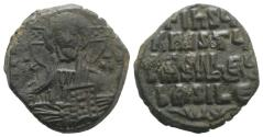 Ancient Coins - Anonymous Folles. temp. Basil II & Constantine VIII, circa 976-1025. Æ Follis. Constantinople mint.