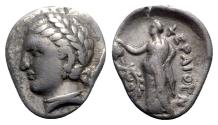 Ancient Coins - Thessaly, Pherai, c. 302-286 BC. AR Hemidrachm