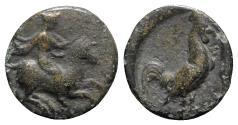 Ancient Coins - Troas, Dardanos, 4th century BC. Æ - Horseman / Cock