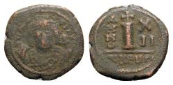 Ancient Coins - Maurice Tiberius (582-602). Æ 10 Nummi - Antioch, year 12
