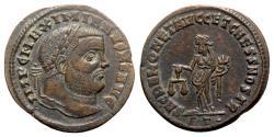 Ancient Coins - Maximianus (286-305). Æ Follis - Ticinum - R/ Moneta