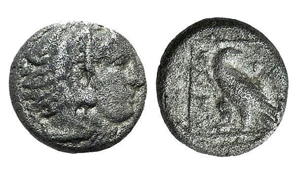 Ancient Coins - Macedon, Kings of. Amyntas III (c. 393-369 BC). AR Diobol. Pella. Rare