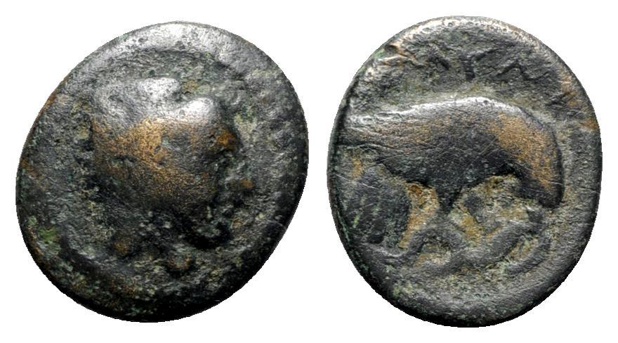 Ancient Coins - Kings of Macedon, Amyntas III (393-370/69 BC). Æ