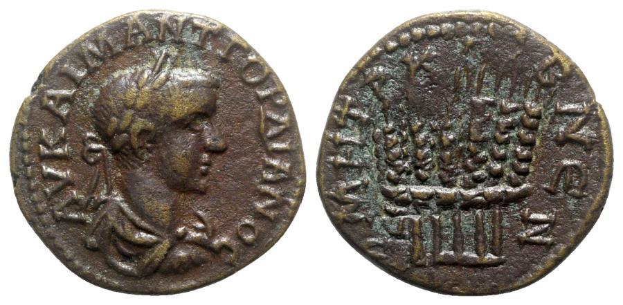 Ancient Coins - Gordian III (238-244). Cappadocia, Caesarea-Eusebia. Æ - year 7