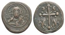 Ancient Coins - Anonymous Folles. Time of Nicephorus III, circa 1078-1081. Æ Follis ex Glendining 30/12/1947, lot 186