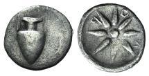 Ancient Coins - KORKYRA, Korkyra. Circa 350/30-290/70 BC. AR Hemidrachm. Amphora / Star