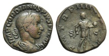 Ancient Coins - Gordian III. AD 238-244. Æ Sestertius. Rome mint, 6th officina. 9th emission, AD 241.