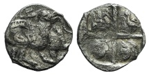 Ancient Coins - Thraco-Macedonian Tribes, Mygdones or Krestones, c. 485-470 BC. AR Hemidrachm (?)