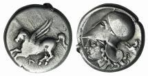 AKARNANIA, Leukas. Circa 320-280 BC. AR Stater. Griffin