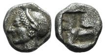 Ancient Coins - Ionia, Phokaia, c. 521-478 BC. AR Diobol