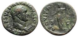 Ancient Coins - Vespasian (69-79). Æ As - Rome - R/ Aequitas