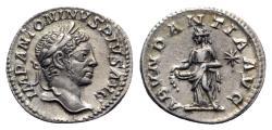 Ancient Coins - Elagabalus (218-222). AR Denarius - Rome - R/ Abundantia