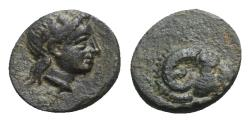 Ancient Coins - Troas, Kebren, c. 4th century BC. Æ - Apollo / Ram