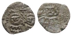 Ancient Coins - Constantine IV (668-685). Æ 20 Nummi. Rome.  R/ Crowned facing busts of Heraclius and Tiberius