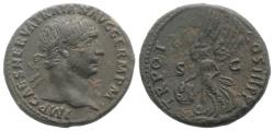 Ancient Coins - Trajan (98-117). Æ As. Rome, AD 100. R/ VICTORY