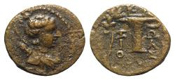 Ancient Coins - Aeolis, Kyme, c. 165-early 1st century BC. Æ - Zoilos, magistrate