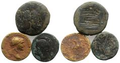 Ancient Coins - Group of 3 Æ coins, including 2 Roman Republican and 1 Roman Imperial (Trajan)