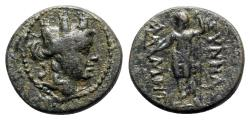 Ancient Coins - Phrygia, Synnada, 2nd-1st century BC. Æ - Admet-, magistrate - Tyche / Zeus