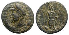 Ancient Coins - Septimius Severus (193-211). Pisidia, Antioch. Æ - R/ Mên