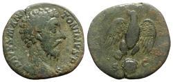 Ancient Coins - Divus Marcus Aurelius (died 180). Æ Sestertius - Rome - R/ Eagle
