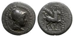 Ancient Coins - Phrygia, Epikteteis, 2nd-1st centuries BC. Æ - Male head / Horse