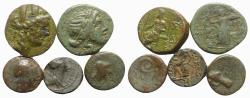 Ancient Coins - Lot of 5 Æ Greek coins, to be catalog