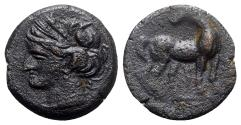 Ancient Coins - Carthage. Second Punic War, c. 215-201 BC. Æ Shekel