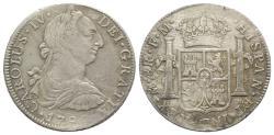 World Coins - Mexico, Carlos IV (1788-1808). AR 8 Reales 1790 FM, Mexico City