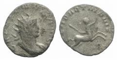 Ancient Coins - Gallienus. AD 253-268. Antoninianus. Legionary issue. Mediolanum (Milan) mint. LEGION II RARE